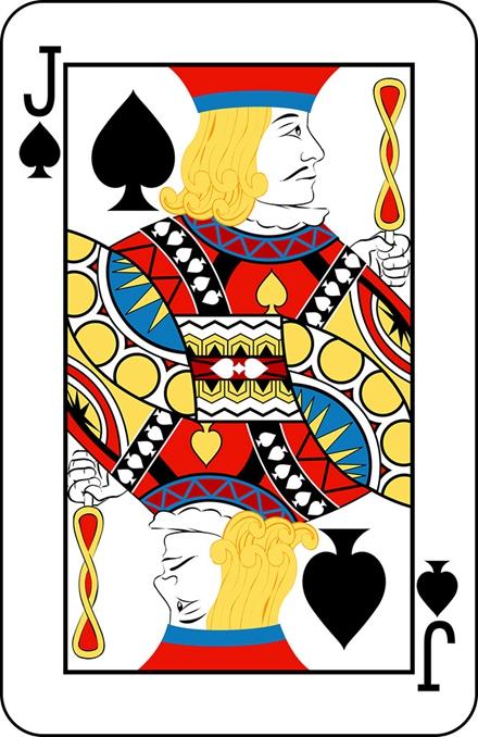 在一副扑克中,只有jqk12张牌是画有人头像的