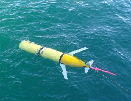 水下滑翔机在海面上的样子