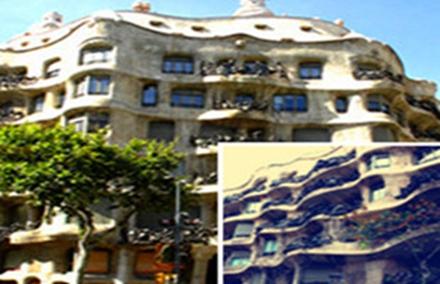 除去曲线,整栋建筑的力学结构也是高迪设计特色之一